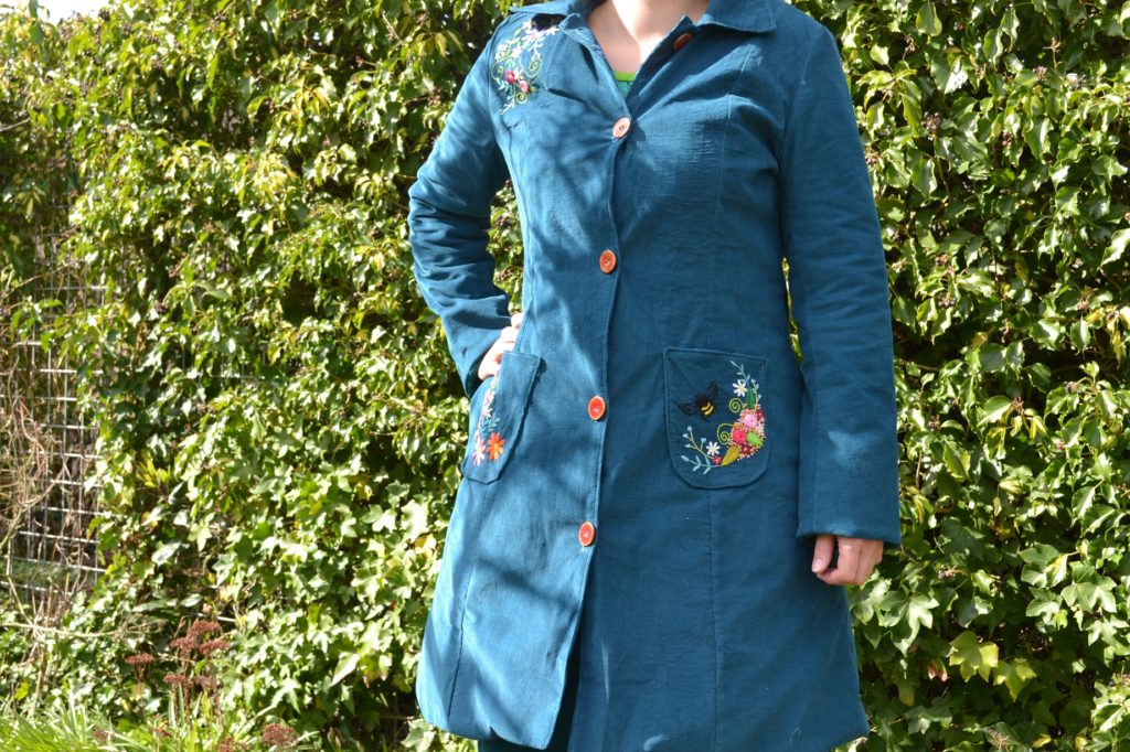 borduren op kleding, embroidery on clothes