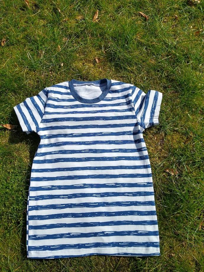 streepjes, shirt, marine, blauw, gestreept, kleding